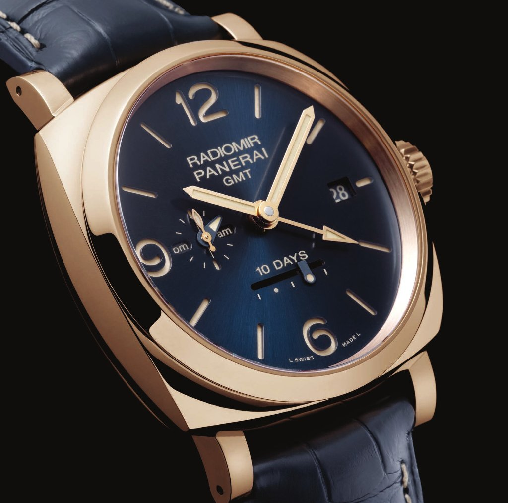 Radiomir 1940 10 Days GMT Automatic Oro Rosso – 47 mm PAM00659 Blue Dial