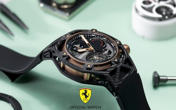 Migliore 70 Anni Ferrari: All'Asta un Hublot Techframe Ferrari 70 Years Tourbillon Chronograph (PEZZO UNICO) Eta Movement Replica