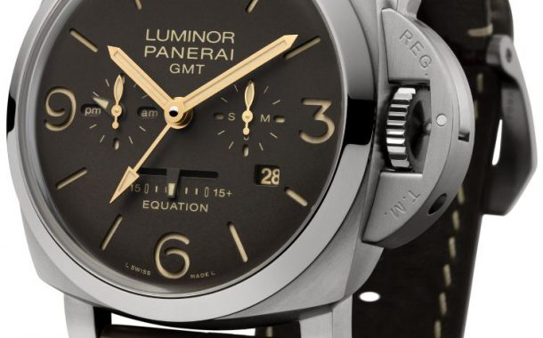 Movimento svizzero Panerai presenta 2 Luminor Equation of Time 8 Days GMT 47 mm Vendita online